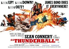 "Thunderball  (11"" x 15.5"") Movie Collector's Poster Print - B2G1F"