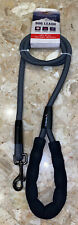 New Avalanche Gray Black Rope Dog Leash 5ft with Metal lock and padded handle