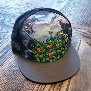New Era Black Teenage Mutant Ninja Turtles Snapback Cap Hat Embroided Excellent