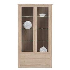 Vitrine Finesse 22 Regal Glasboden Möbel für Wohnzimmer! LED beleuchtung