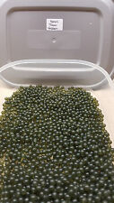 4mm Transparent Green Soft Rubber Shock/Impact Beads.6 Pack Sizes + Free Gift