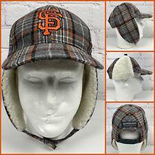 San Francisco Giants Baseball Cap Snapback Ear Flap Ushanka Style Excellent RARE