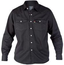 Camisas y polos de hombre negras de vaquero talla L