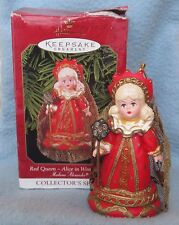 1999 HALLMARK RED QUEEN ALICE IN WONDERLAND MADAME ALEXANDER CHRISTMAS ORNAMENT