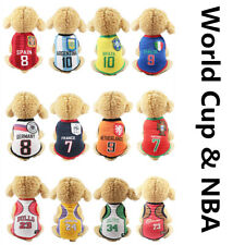 Cute Wold Cup Dog Shirt Summer Vest Costume Apparel Tshirt Clothes for Pet Puppy