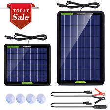 ECO Pannello Solare Fotovoltaico Portatile da 12V 5W &10W per Auto/Camper/Marine