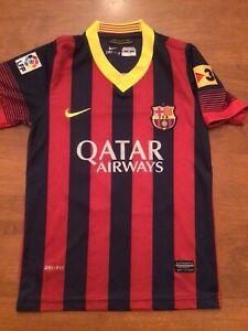 Lionel Messi Barcelona FCB #10 Boys SZ. 10 Jersey Red NIKE Soccer