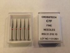 Crosstech High Speed Diamond Dental Bur Fine Needle C7F 859-016 5pk