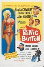 PANIC BUTTON Movie POSTER 27x40 Maurice Chevalier Eleanor Parker Jayne Mansfield