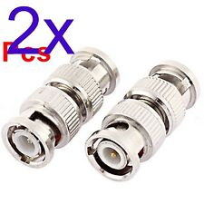 BNC Male to Male Plug RF Coax Coaxial Antenna Connector Adapter Convertor
