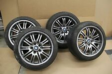 01-06 BMW E46 M3 4 WHEELS & TIRES STAGGERED 18X8 18X9 SET OEM FACTORY WHEEL TIRE
