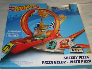 Hot Wheels Speedy Pizza Race Car Track Car Included.  BRAND NEW NEVER OPENED