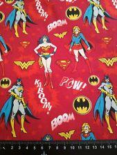 Cotton Fabric Red Justice League WW DC Comics Batgirl Supergirl Material Skirt
