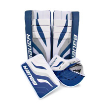 "New Bauer Reactor junior street 27"" pads/gloves set/kit hockey goalie equipment"