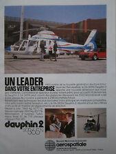 5/1981 PUB AEROSPATIALE DAUPHIN 2 SA 365N ALPINE RENAULT A310 ORIGINAL FRENCH AD
