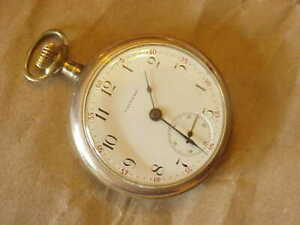 WALTHAM  16 S   OPEN FACE POCKET WATCH YELLOW G.F -CIRCA 1899