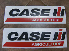 """Pair CASE IH AGRICULTURE Tractor vinyl decals 11"""" x 3"""" Each  Red & black only"""