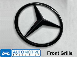 Mercedes-Benz Gloss Black Front Grille Star Badge Emblem A0008171016 NEW
