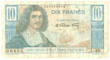 §§ BANKNOTE / BILLET FRANCE D'OUTRE-MERE 10 FRANCS COLBERT L40 N°06494 §§