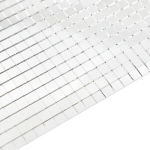 Self Adhensive Mini Square Sticker Mirror Glass Acrylic Crystal Tiles 30cm