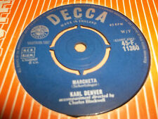 "KARL DENVER "" MARCHETA "" 7"" SINGLE VG DECCA 1961"