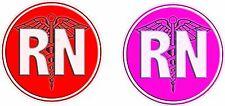 RN Registered Nurse Decal Pair High Quality!!