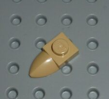 LEGO - PLATE, Modified 1 x 1 with Tooth, TAN x 4 (49668) PM72