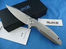 Ruike P128-SF Frame Lock Folder Knife Beta Plus Lock Stone Washed 14C28N