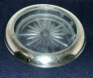 """Vintage Frank M Whiting STERLING SILVER 6 3/4"""" Rimmed Flat Dish"""