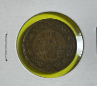 1915 Canada One Cent Coin Large Cent Bronze Coin King George V KM# 21
