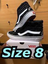 Vans Sk8-Hi Supreme Hole Punch Denim Size 8 Black