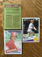 1985 CINCINNATI REDS Topps COMPLETE Baseball Team Set 29 Cards ROSE DAVIS PEREZ