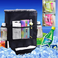 Black Car Travel Organiser Cooler Rear Back Seat Insulated Lunch Bag Kids Picnic