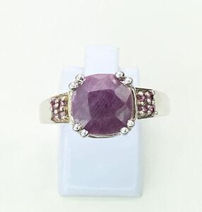 Ruby & Tourmaline Gemstone Ring, Size U/V, Gems Tv/ Gemporia