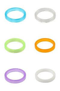 "One23 Bike Headset Spacer 1 1/8"" 28.6mm Polycarbonate 5mm with Choice of Colour"