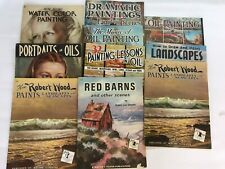 Vintage 10 Walter T Foster Art Instruction Books Oil Painting Drawing Landscapes