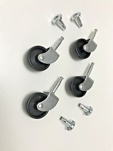 NICE BRAND NEW Furniture Castors Wheels With Sockets For Beds Settee Chairs Sofa