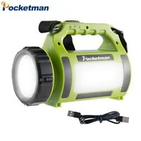 Details about  /80000LM LED Searchlight Long-Range Flashlight USB Rechargeable Torch Spotlight