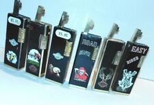 Vintage Harley Davidson Eagle Lighter Lot of 6 Rollalite Style Reaper Korea