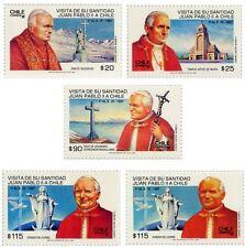Chile 1987 #1232-1234 Visita de su Santidad Juan Pablo II a Chile
