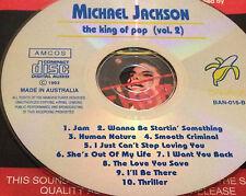 Michael Jackson The King Of Pop Vol. 2 Aust Live CD Jam Smooth Criminal Thriller