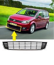 NEW VW TOURAN 10-15 FRONT BUMPER GRILLE LOWER CENTRE CHROME INSURANCE APPROVED