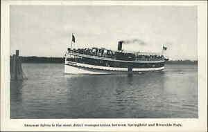 Springfield MA Steamer Boat Sylvia Riverside Park c1910 Postcard #1