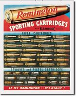 Remington For Rifles & Pistols Ammo Distressed Vintage Ad Metal Tin Sign