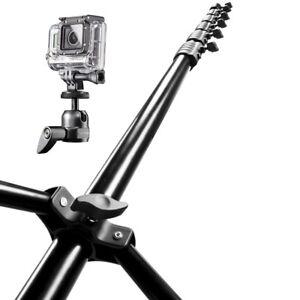 mantona Maxi Airview Stativ für GoPro für Aufnahmen aus einer Höhe von fast 6m