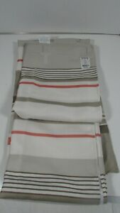 Saturday Knight Limited Coral Gardens Stripe Fabric Shower Curtain 70x72