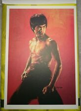李小龙彩色明信片 Bruce Lee 75th Birthday Pictorial Full Color Post Card #15 Dragon Stand