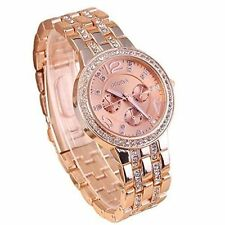 Geneva Adorable Rose Gold Chain Analogue Watch For Women,Girls!!