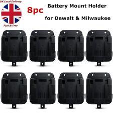 8pc Power Battery Mount Hanger Shelf Storage Stand Holder for Dewalt Milwaukee