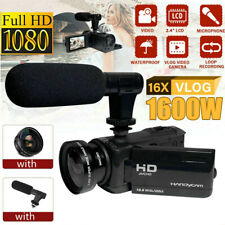 1080P HD 16x Zoom Digital Camcorder Video Camera DV Recorder External Microphone